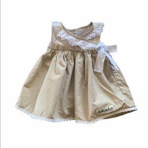 Cheeky Plum Tan Eyelet Dress 6-12 Months